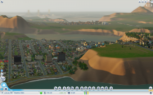 The beginnings of a new, neighboring city.